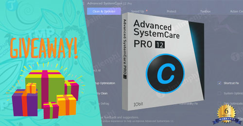 giveaway ban quyen mien phi advanced systemcare 12