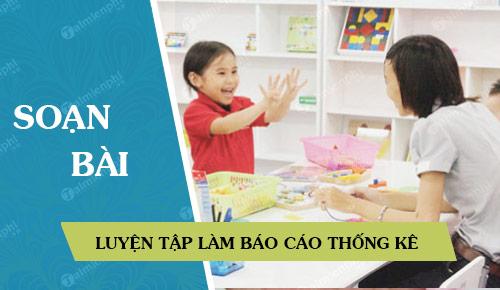 soan bai luyen tap lam bao cao thong ke lop 5