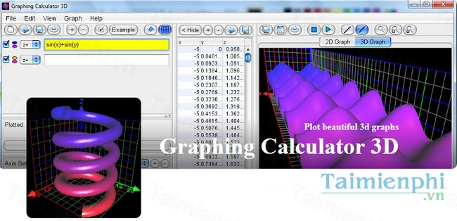 download graphing calculator 3d
