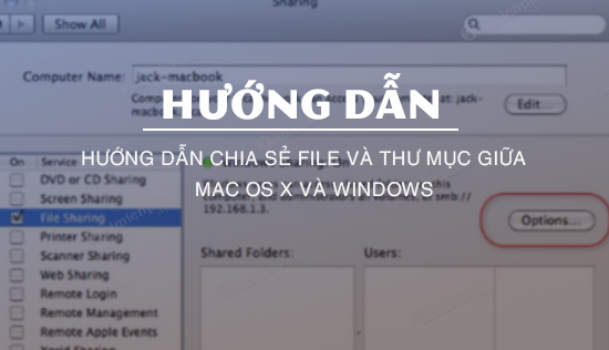 chia se file va thu muc giua mac os x va windows
