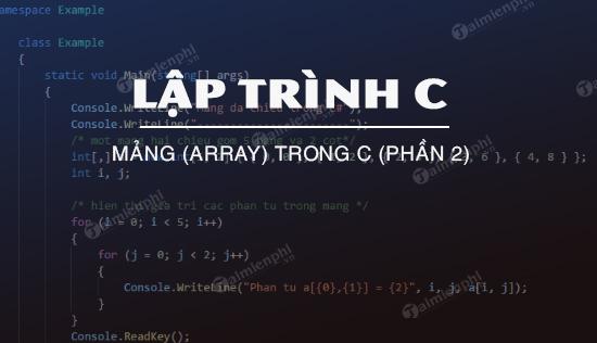 mang array trong c phan 2