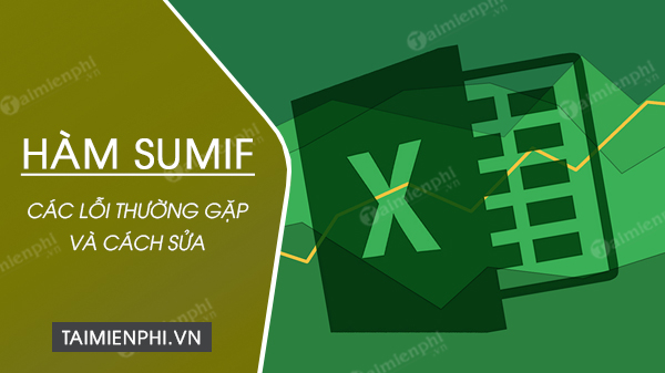 loi ham sumif trong excel
