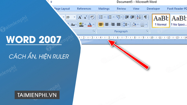 cach hien thi ruler trong word 2007
