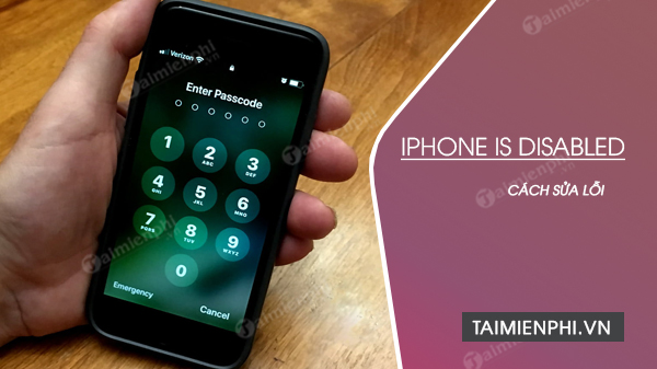 cach sua loi iphone is disabled