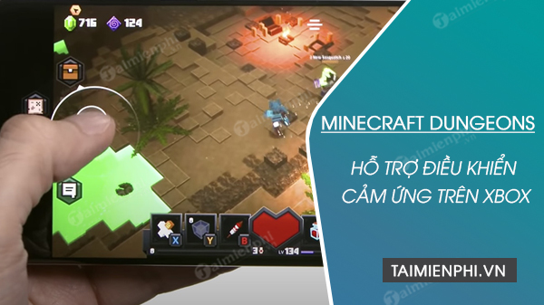 minecraft dungeons tro thanh tua game xbox game pass ultimate dau tien ho tro dieu khien cam ung
