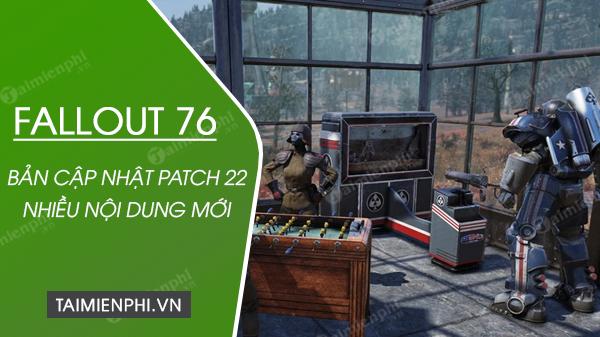 ban cap nhat patch 2 da co tren fallout-76