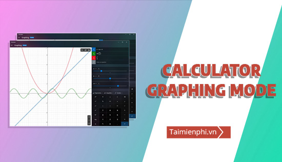 Graphing Mode tren ung dung Calculator Windows 10