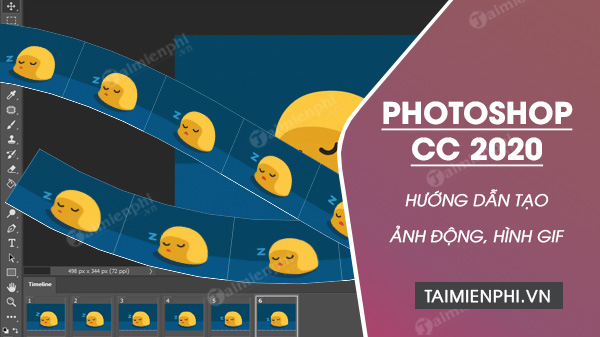 cach tao anh dong tren photoshop cc 2020
