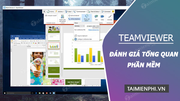 Danh gia TeamViewer Video Conferencing