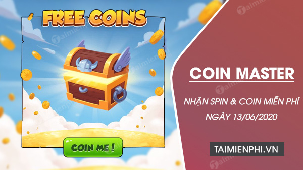 link coin master free spin ngay 13 6 2020