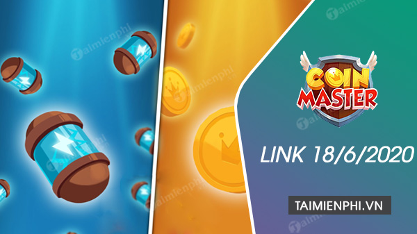 link coin master free spin ngay 18 6 2020