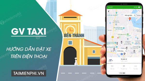 cach dat xe gv taxi