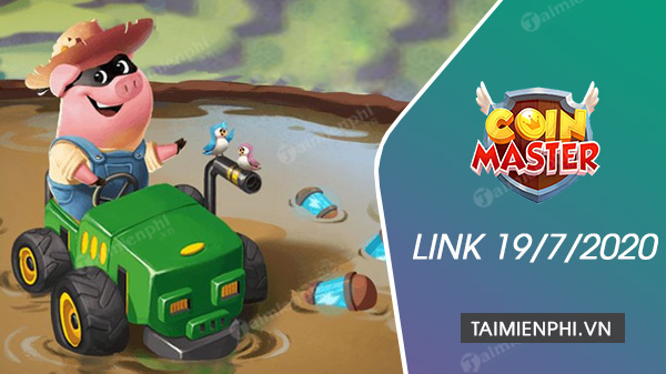 link spin coin master ngay 19 7 2020