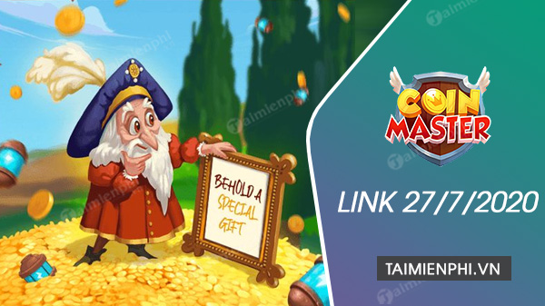 link free spin coin master free ngay 27 7 2020
