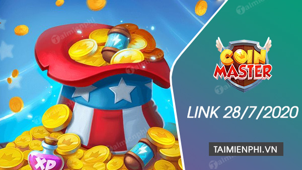 link free spin coin master free ngay 28 7 2020