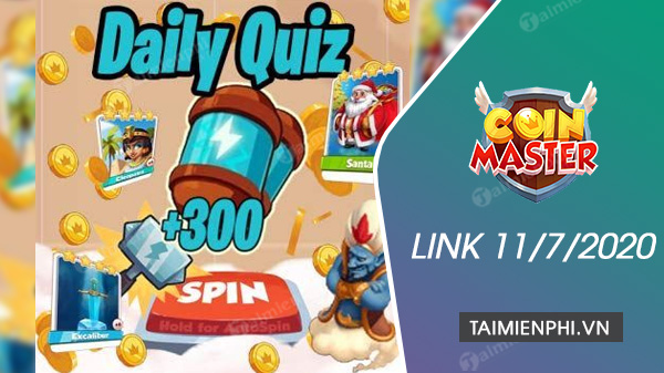 link spin coin master mien phi ngay 11 7 2020