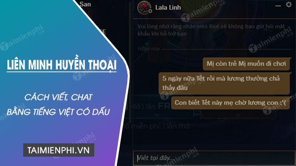 Go tieng viet trong lol