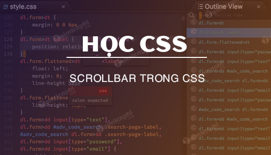 scrollbar trong css hoc css