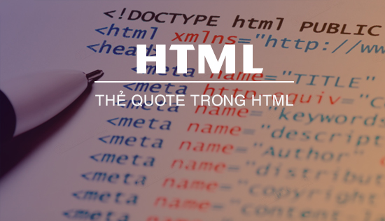 the quote trong html hoc html