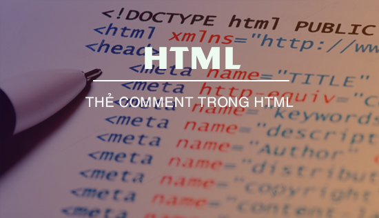 the comment trong html