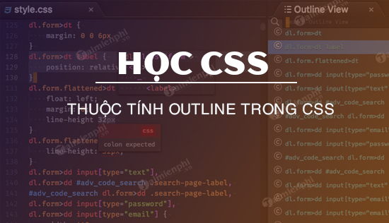 thuoc tinh outline trong css