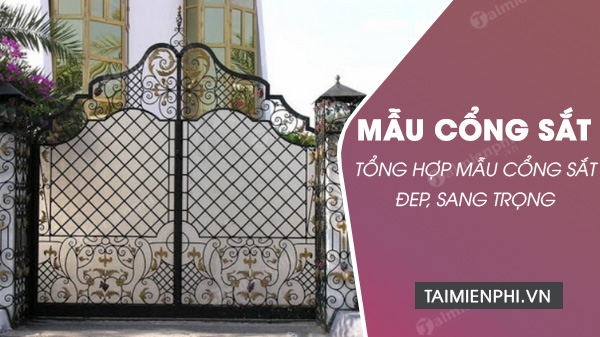 mau cong sat 4 canh, 2 canh, 1 canh