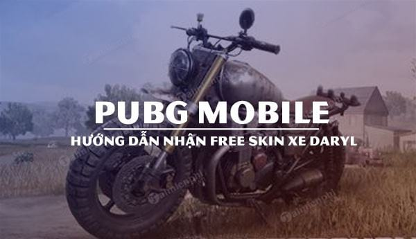 cach nhan mien phi skin xe daryl pubg mobile
