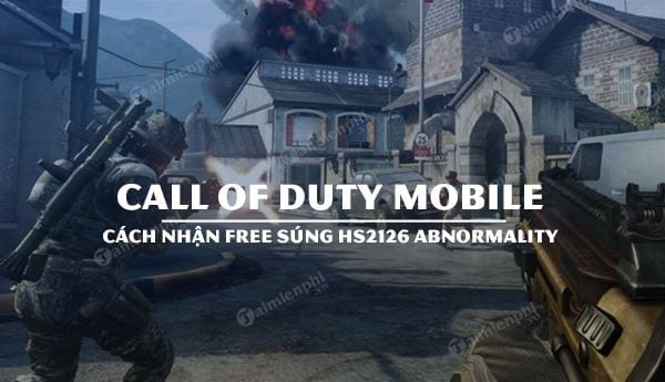 cach nhan free sung hs2126 abnormality call of duty mobile
