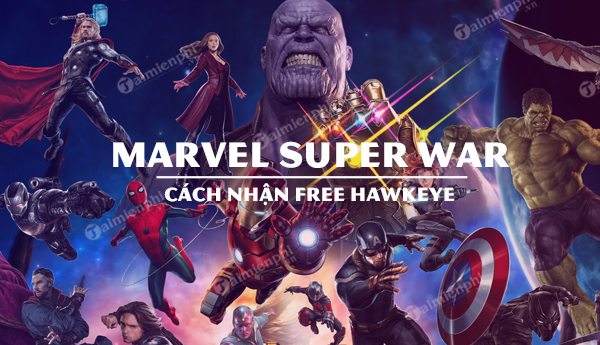 cach nhan mien phi tuong hawkeye marvel super war