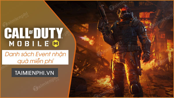 danh sach event nhan qua mien phi call of duty mobile vn