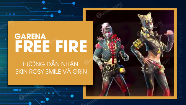 cach nhan skin rosy smile grin trong garena free fire