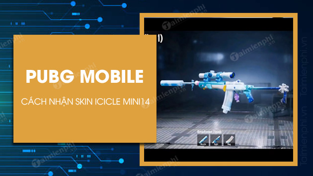 how to get icicle mini14 skin in pubg mobile