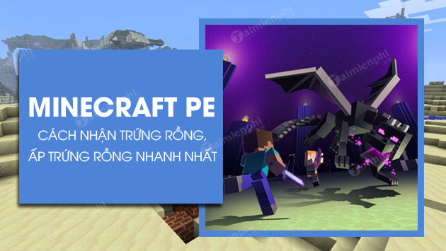 cach nhan trung rong trong minecraft pe