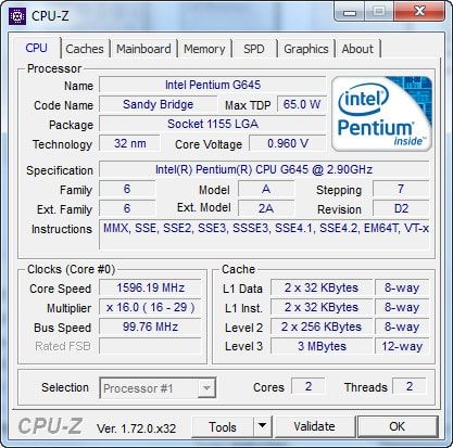 Download phần mềm CPU Z