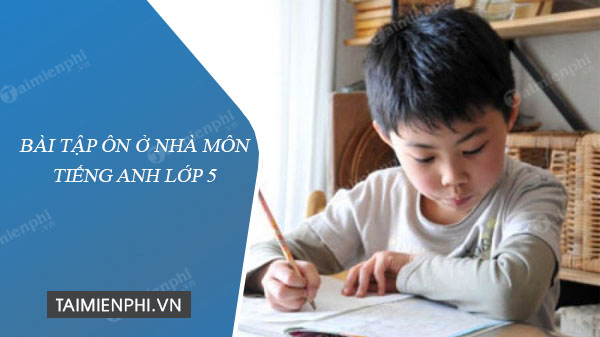 bai tap on o nha mon tieng anh lop 5