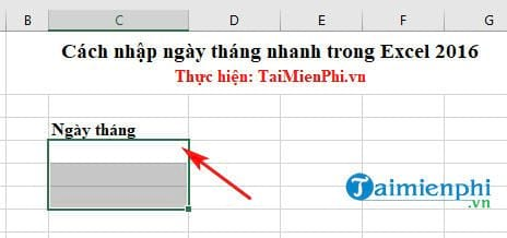 cach nhap ngay thang nhanh trong excel