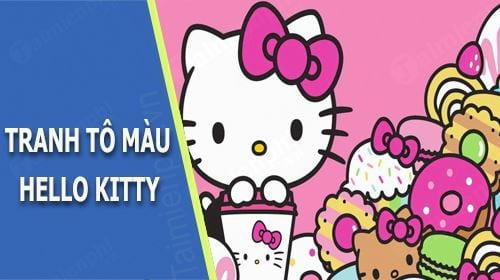 tranh to mau hello kitty