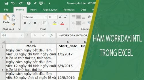 ham workday intl trong excel