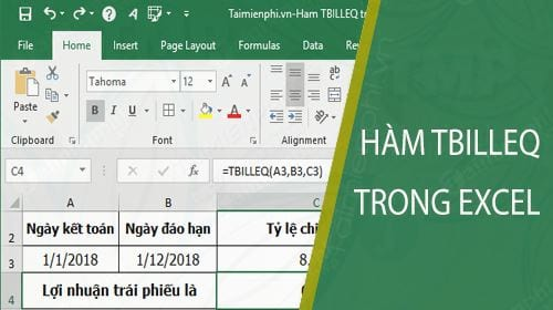 ham tbilleq trong excel