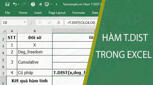 ham t dist trong excel