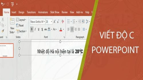 cach viet do c trong powerpoint
