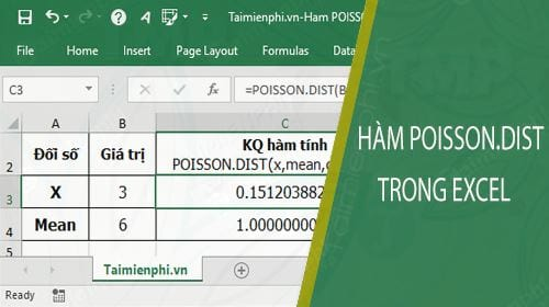 ham poisson dist trong excel
