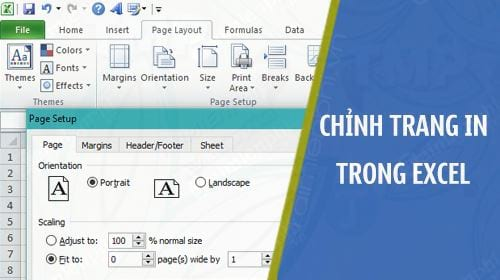 can chinh trang in trong excel