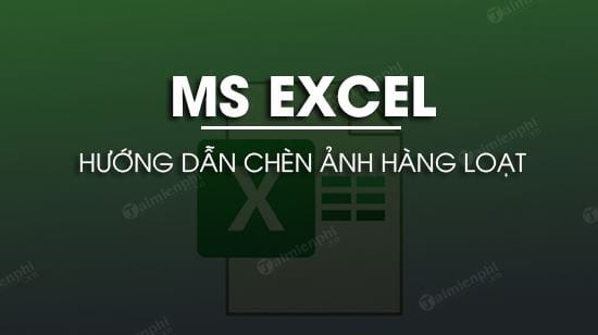 cach chen anh hang loat vao o excel chen nhieu anh cung luc