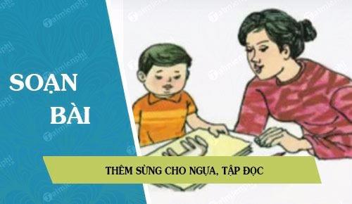 soan bai them sung cho ngua tap doc