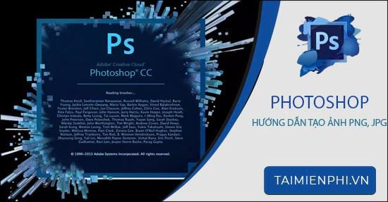 cach tao anh png jpg bang photoshop