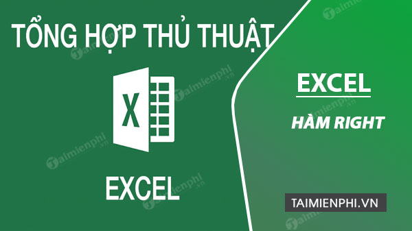ham right trong excel