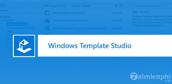 da co the tai windows template studio 3 0