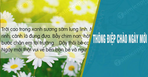 thong diep chao ngay moi