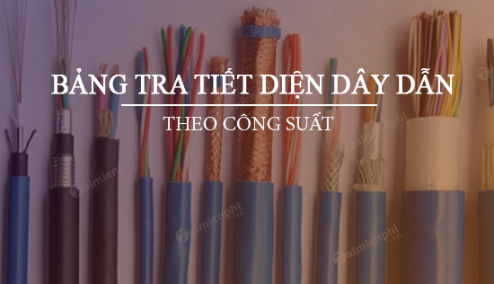 bang tra tiet dien day dan theo cong suat